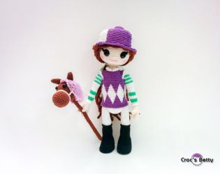 Jade and her Jockey Outfit by Crocsbetty