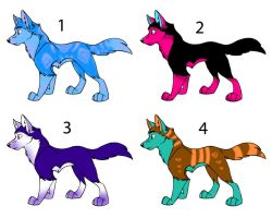 Wolf Adopts! CLOSED by PurplePeople1995