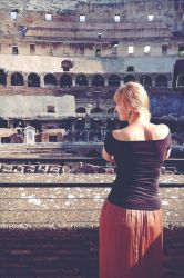 me at the colosseum by LunaFeles