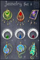 Jewelry Set 5 (CLOSED) by Rittik-Designs