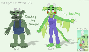 Fnaf OC: Drakey the Dragon! (In-game details!) by Estefanoida