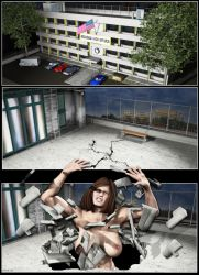 Silent Muscle Giantess Comic 15 by Stone3D