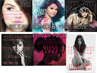 Selena Gomez The Scene Album's Font by Photo7Girl