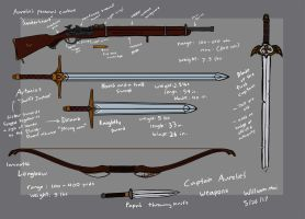 'Aurelie personal weapons' by WMDiscovery93