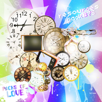 Clock Png Pack by IremAkbas