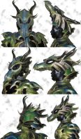 Dragon Armor Helmet by Azmal