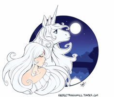 The Last Unicorn by DanteDemolition