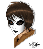 Creepypasta Headshots #2 Masky/Tim by LegendWolves