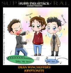 SPN Puppy eyes by HeroesDaughter