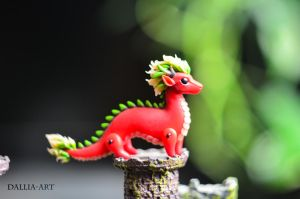 Miniature eastern dragon by dallia-art