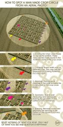 How to spot a man made crop circle from a photo. by R71