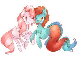 Commission - Cuddle Bug and Special Somepony by grandifloru