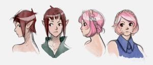 DND character sketches by doven