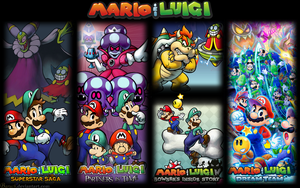 All Mario and Luigi Games Wallpaper 1440x900 by Baruch97