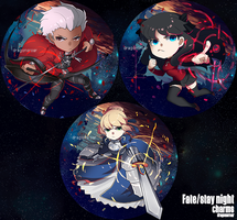 Fate/Stay Night Charms by GRAVEWEAVER