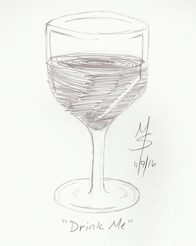 Sketchavember 11/7/16 - Drink Me by Ginkage