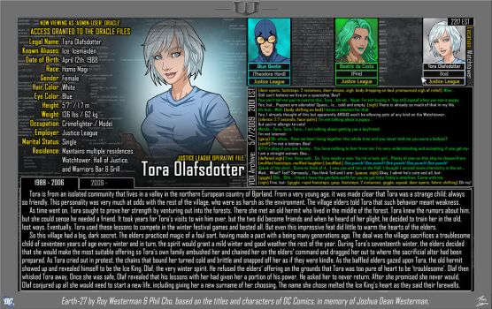 [Earth-27: Oracle Files] Tora Olafsdotter (1/2) by Roysovitch