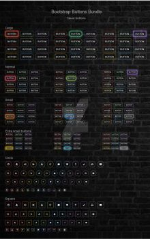 Bootstrap Buttons Bundle by trissialabs