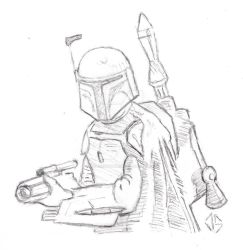 Boba Fett With Gun Drawn - WIP by JasonShoemaker