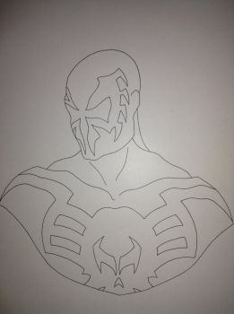 Spider-Man 2099 - Line Work by 97NightKnight