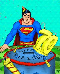 Superman's 70th Birthday by ZacPensol