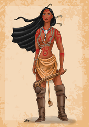 Historical Disney Warrior Princess - Pocahontas by Pelycosaur24