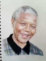 Nelson Mandela Pencil Portrait by messikaru