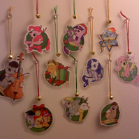 MLP Christmas and Holiday Ornaments by SouthParkTaoist