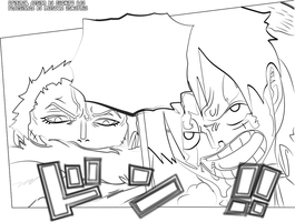 New Version line art Luffy VS Katakuri chapter880 by MrMasoudZ