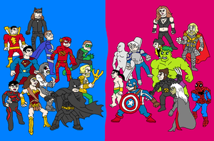 DC vs Marvel (We want the movie!) by Austria-Man