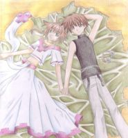 Sakura and Syaoran by Dawnie-chan