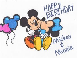 Mickey and Minnie - 90th Aniversarry by Piplup88908
