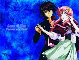Kira and Lacus Wallpaper by Garr3n