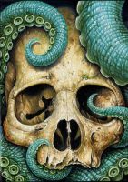Tentacle Skull Sized by Vossfineart