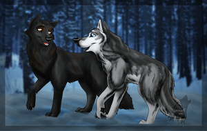 Wolves Look Better in Pairs by lone-wolf-666
