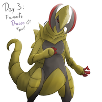 POKEDDEXY challenge - Day 3: Haxorus by Zaprong