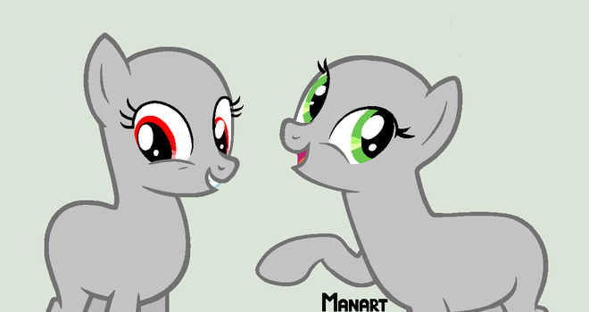 [MLP Base] Two Earth Ponys by Manazika