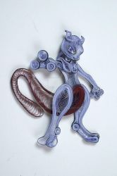 Pokemon Paper Quilling Art 150 Mewtwo by wholedwarf