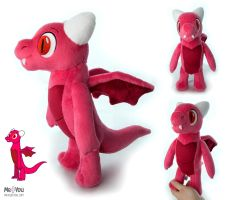 Peewee the Dragon plush by meplushyou
