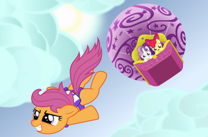 Cutie Mark Crusaders SKYDIVE by BlackGryph0n