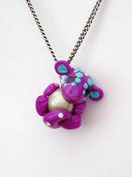 Purple Dragon Pendant by Liluri-Creations
