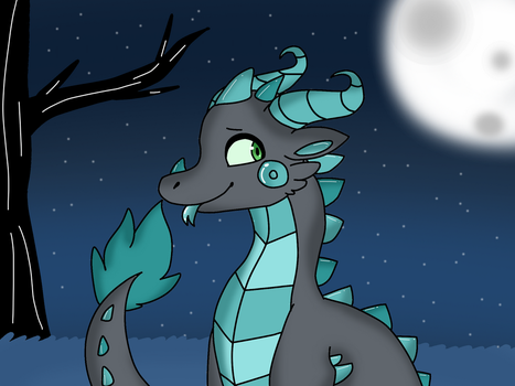 Nighttime Dragon by Dragonqueen316AJ