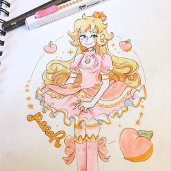 Princess Peach sketchbook doodle by pomifumi