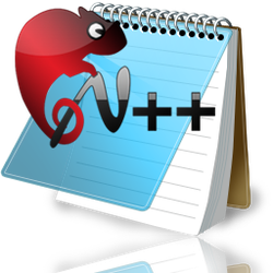 Notepad ++ reflective icon by ozl