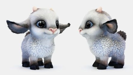 Cartoon sheep - 3D model by Alina-207
