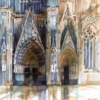 Koln cathedral's facade by takmaj