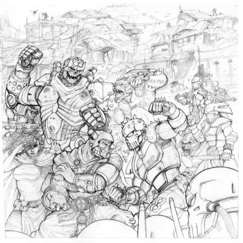 Rifts Board Game Box Cover Pencils by ChuckWalton