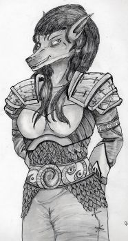 Worgen Girl - Commision by Rease-Hunter
