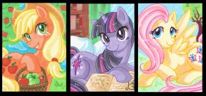 My little Pony ACEO's 2 by Aiko-Mustang