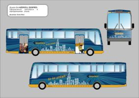 bus advertising for azercell by FaiQQ